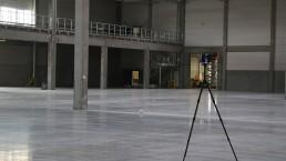 Ebenheitsmessung mit Laser Halle 3